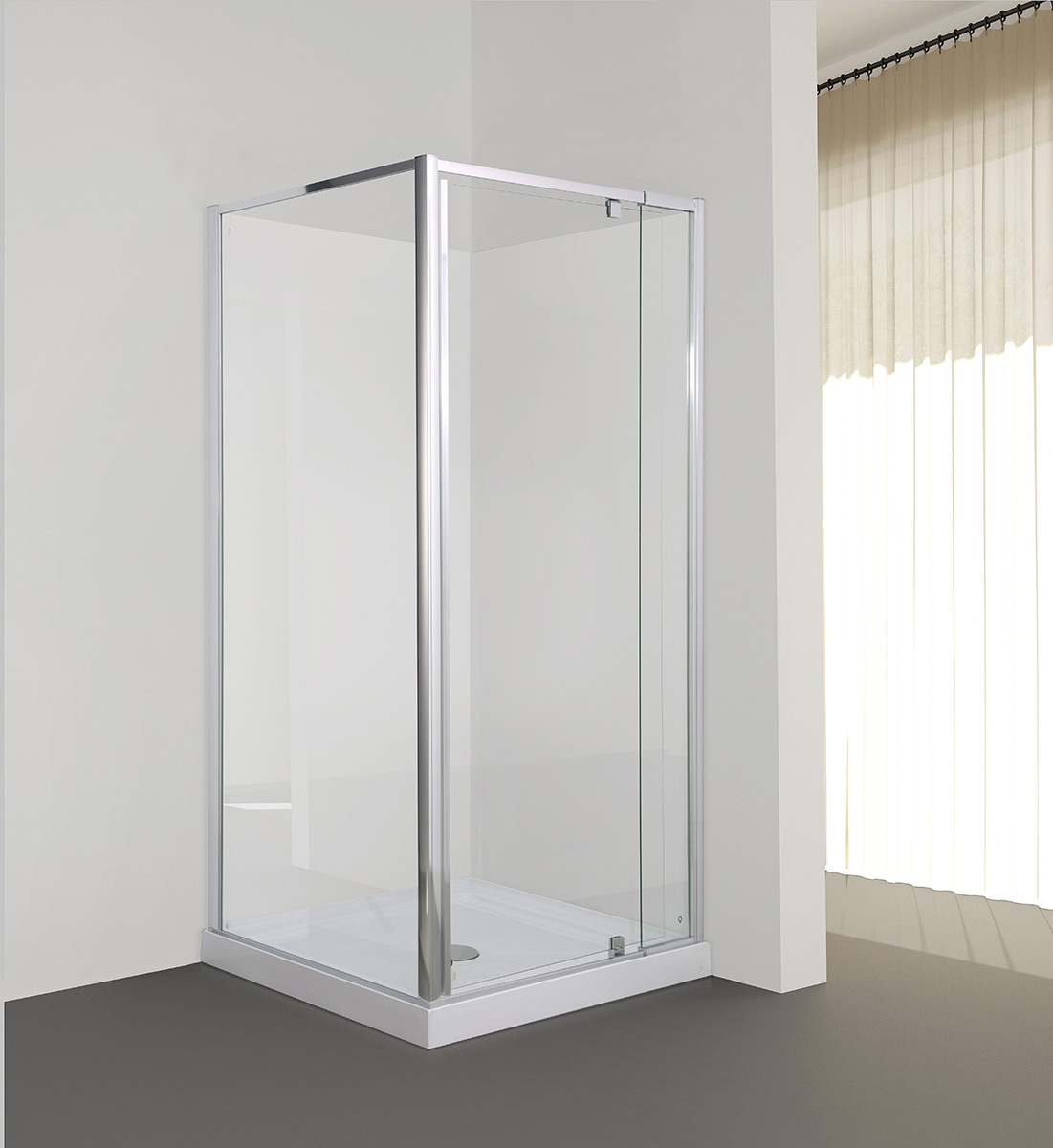Milford 800x900 900x800 Corner Pivot Door Shower In Chrome